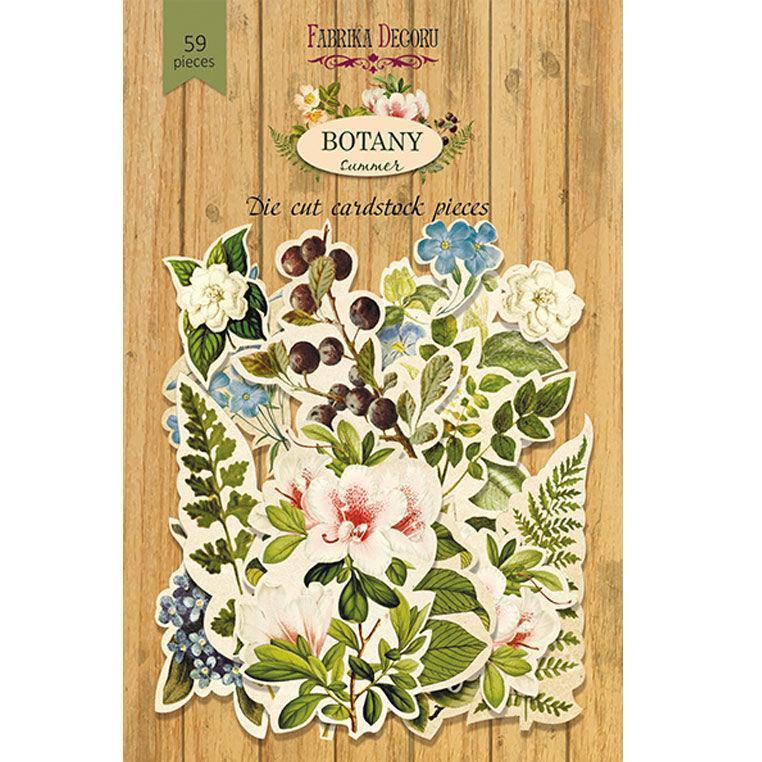 Чипборд (высечка) Фабрика Декору бумага 250г/м Botany summer, набор 59 шт FDSDC-04018
