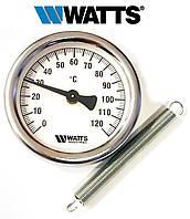 Термометр накладной WATTS TAB-63/120 (F+R810) с пружиной (63мм, 0-120°С), фото 1