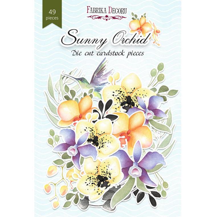 Чипборд (высечка) Фабрика Декору бумага 250г/м Sunny Orchid, набор 49 шт FDSDC-04102