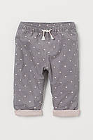 Стильні вельветові штанці на трикотажній підкладці НМ для дівчинки