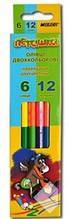 Олівці кольорові двосторонні MARCO 12 кольорів №1011-6CB Пегашка