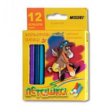 Олівці кольорові MARCO 12 кольорів №1010H-12CB Пегашка міні