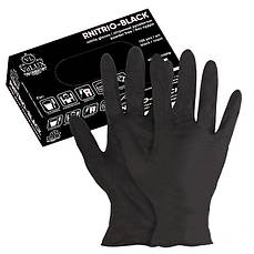 Перчатки нитриловые без пудры NITRILUX BLACK 100 шт (XL)