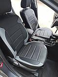 Чехлы на сиденья Хендай И-10 (Hyundai i10) модельные MAX-L из экокожи Черно-серый, фото 2
