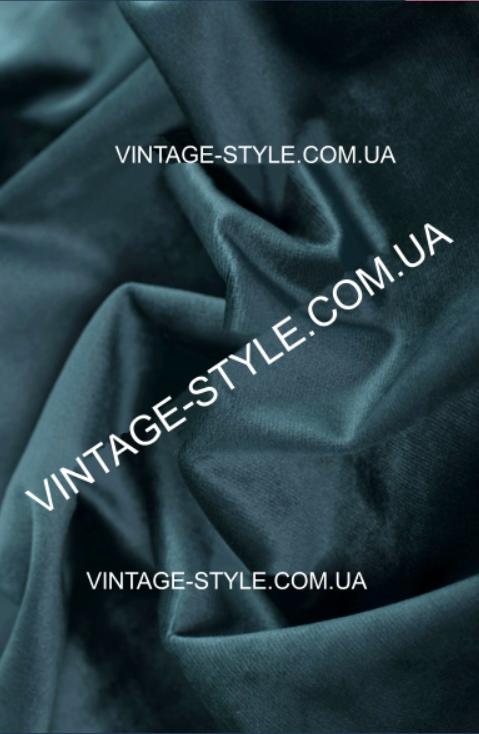 Тканина для штор Однотонний синій оксамит Т-1970