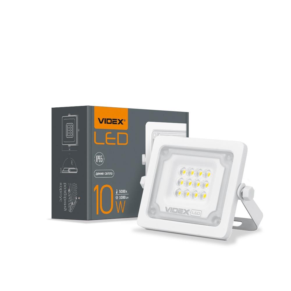 LED прожектор 10W VIDEX F2e 5000K белого цвета