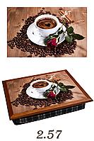 "Поднос на подушке ""Кофе, роза, корица"", фото 1"