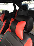Чохли на сидіння Пежо 307 (Peugeot 307) (модельні, MAX-L, окремий підголовник) Чорно-червоний, фото 4