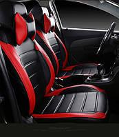 Чехлы на сиденья Пежо Эксперт Ван (1+2 = передние сидения) модельные MAX-L из экокожи Черно-красный, фото 1