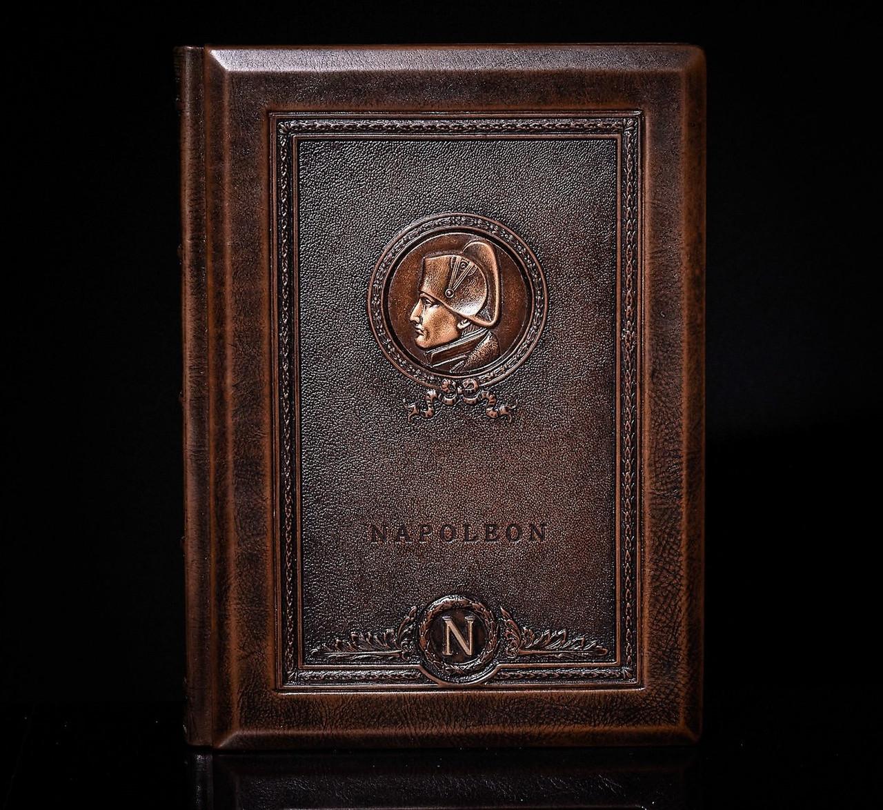 """Книга для записів з можливістю персоналізації в шкіряній палітурці """"Наполеон"""""""