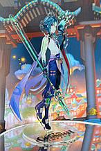 Акриловий стенд Genshin Impact - Xiao Сяо, 15 см