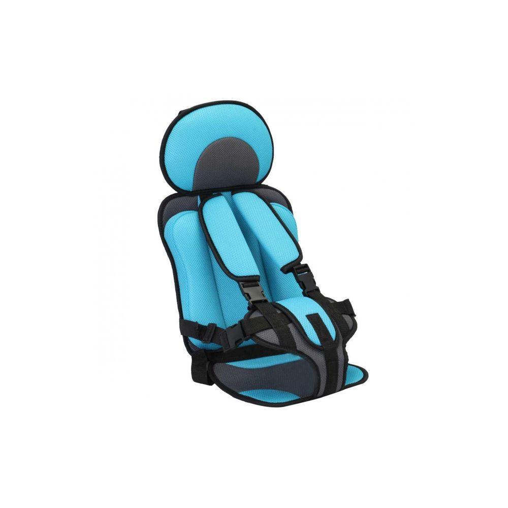Портативное бескаркасное детское автокресло голубое
