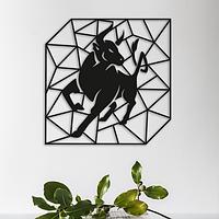 Объемная картина из дерева DecArt Geometric Bull