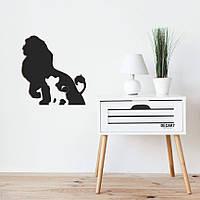 Объемная картина из дерева DecArt Lion King