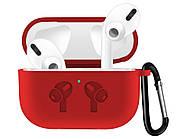 Чехол Trusty Silicone с карабином AirPods Pro Red
