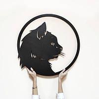 Объемная картина из дерева DecArt Cat circle