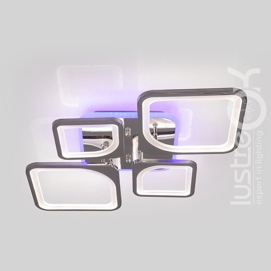 Люстра светодиодная с пультом  VK39047-2+2-TL HR Люстра квадратная 120 Вт. Люстра потолочная