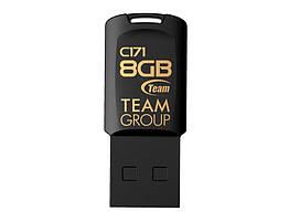 Флеш-накопитель USB  8GB Team C171 Black TC1718GB01, КОД: 2313346