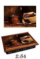 """Поднос на подушке """"Кофемолка и мешок с кофем"""", фото 1"""