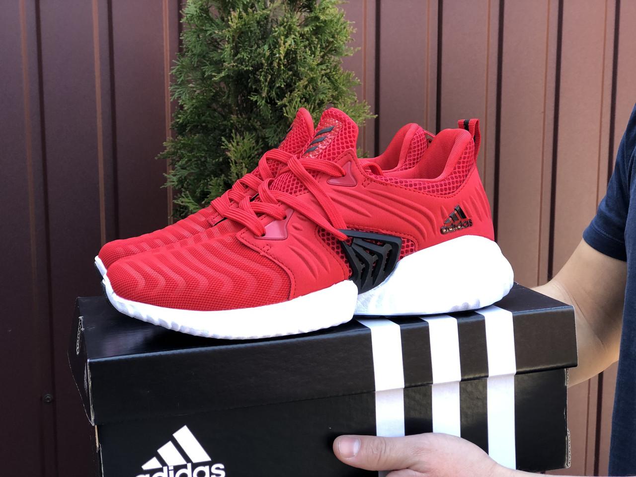 Мужские кроссовки Adidas Alphabounce Instinct (красные) B10449 крутые кроссы для парней