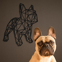 Объемная картина из дерева DecArt French Bulldog