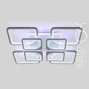Люстра светодиодная с пультом VK39047-4+4-TL WT  Люстра квадратная 254 Вт