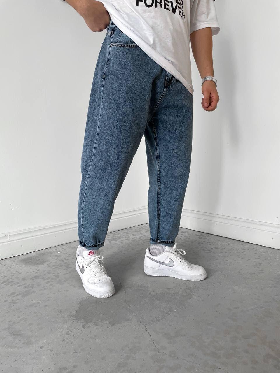 Чоловічі джинси Мом світло-сині