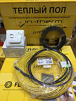 6,6 m2 Теплый пол под плитку электрический 5,3-6,6 м.кв FENIX IN-Therm (Чехия) нагревательный кабель 53 м