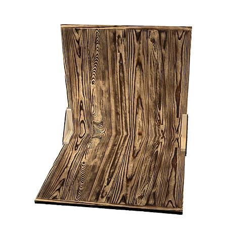 Дерев'яний кутовий фотофон  Золотой со стариной, фото 2
