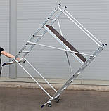 Вишка-тура будівельна алюмінієва робоча висота 3.0 (м), фото 4