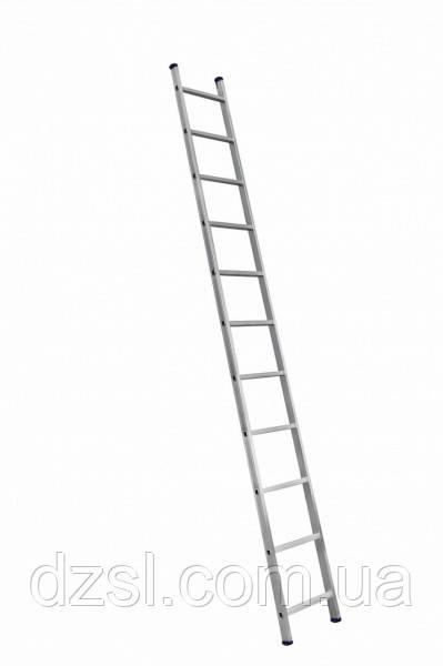 Алюмінієва односекційні приставні сходи на 11 ступенів