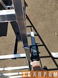 Алюмінієва односекційні приставні сходи на 11 ступенів, фото 4