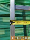 Алюмінієва односекційні приставні сходи на 11 ступенів, фото 6