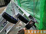 Драбина алюмінієва трисекційна універсальна 3 х 6 ступенів, фото 8