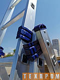 Алюмінієва трисекційна універсальна драбина 3 х 7 ступенів, фото 6