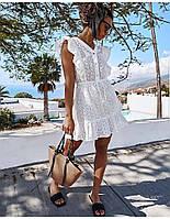 Платье женское из прошвы летнее