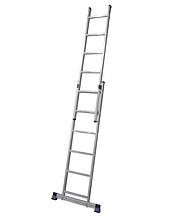 Лестница алюминиевая двухсекционная 2 х 6 ступеней