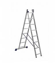 Лестница алюминиевая двухсекционная универсальная 2 х 8 ступеней