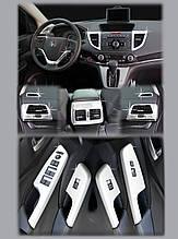 Хром накладки на панель Honda CR-V 2012-2016 (Autoclover/Корея/С388)