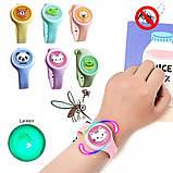 Дитячий браслет для захисту від комах з натуральним маслом | Антимоскитный браслет світиться в темряві, фото 4
