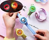 Дитячий браслет для захисту від комах з натуральним маслом | Антимоскитный браслет світиться в темряві, фото 7