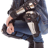 MAD RACING HG-01 Комплект мотозащиты (колено, голень + предплечье, локоть) 4шт (PVC, металл, черный)