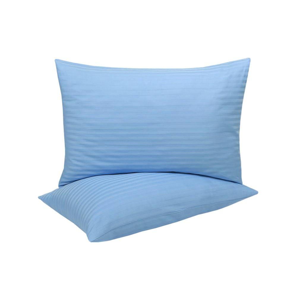 Наволочки Lotus Готель - Сатин Страйп 1*1 блакитний Туреччина 50*70 (2 шт)