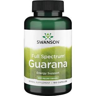 Swanson Guarana Гуарана енергетик 500 мг 100 капс