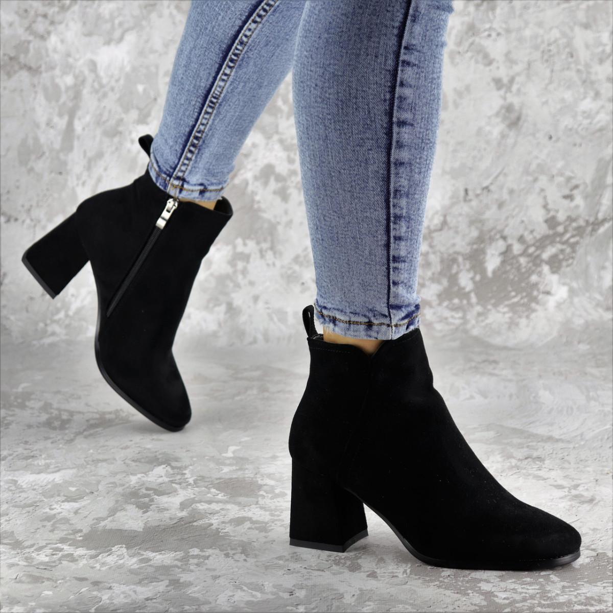 Ботильйони жіночі Fashion Hoagie 2286 36 розмір, 23,5 см Чорний
