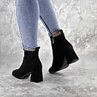 Ботильйони жіночі Fashion Hoagie 2286 36 розмір, 23,5 см Чорний, фото 5