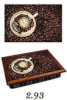"""Поднос на подушке """"Время для кофе"""", фото 1"""