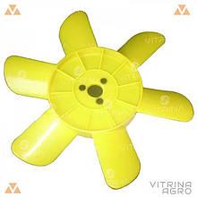 Крыльчатка радиатора ВАЗ-2101, 2102, 2103, 2104, 2105, 2106, 2107, 2121, 21213, 2131 Нива (6 лоп., желтая)  