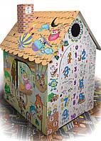 Картонный домик раскраска (сборной развивающий домик раскраска для детей) дом для игр