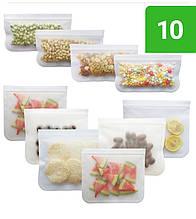 Набір з 10 Багаторазових Пакетів Zhentu для Зберігання, Заморожування і Транспортування Їжі та продуктів